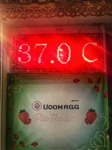 Auch nach 20 Uhr ist es noch warm.