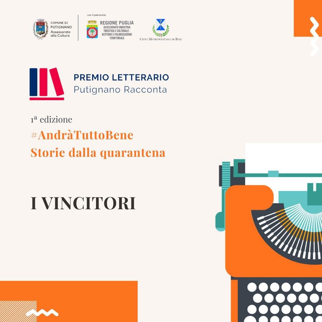 """La mia """"De difìcii de pasà"""""""" ha vinto il terzo premio alla I edizione del Premio Letterario """"Putignano Racconta"""""""
