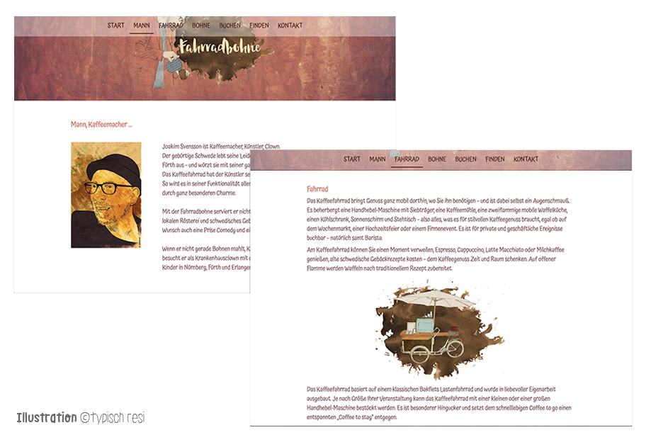 Webseitengestaltung, Illustration: typischresi.de | fahrradbohne.de