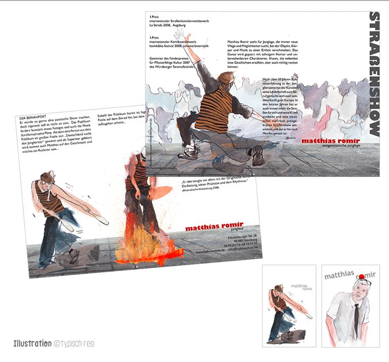 Flyer, Illustration: typischresi.de | Matthias Romir