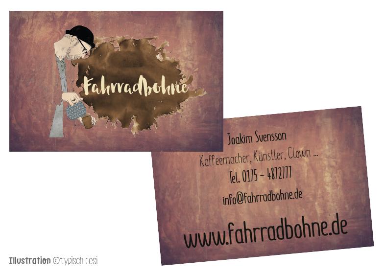Visitenkarten, Illustration: typischresi.de | fahrradbohne.de