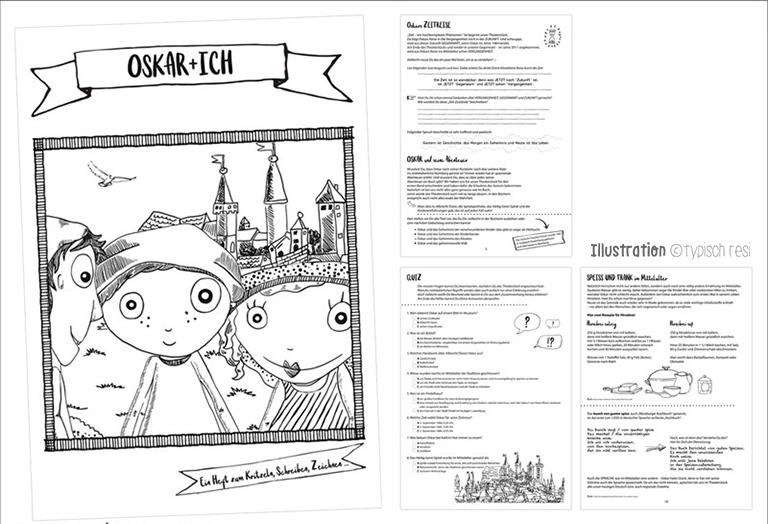 Arbeitsheft zum Stück, Illustration: typischresi.de | Theater Salz+Pfeffer