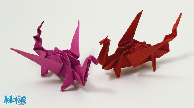 Origami Dragon (difficile)