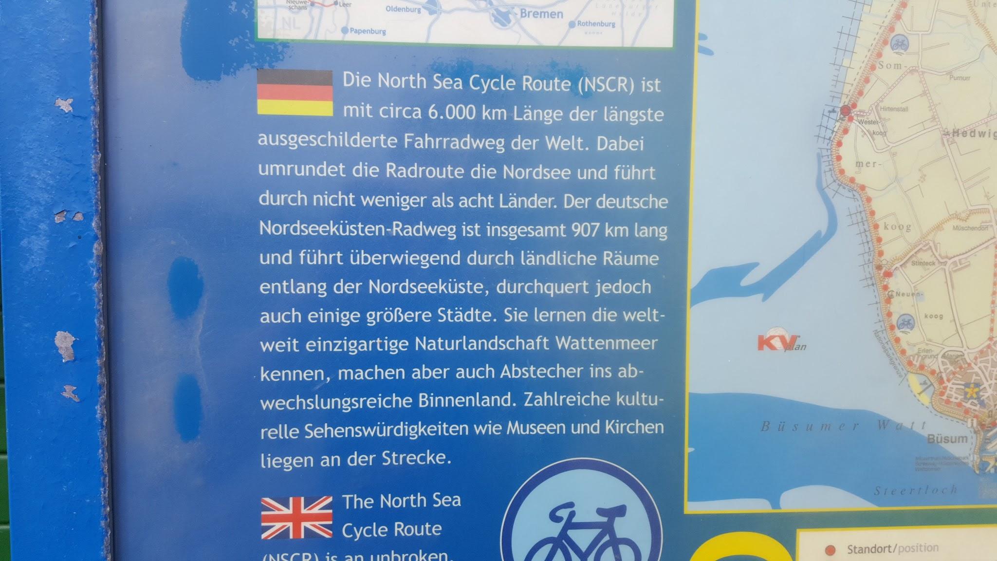 6000 km Radweg entlang der Nordseeküste