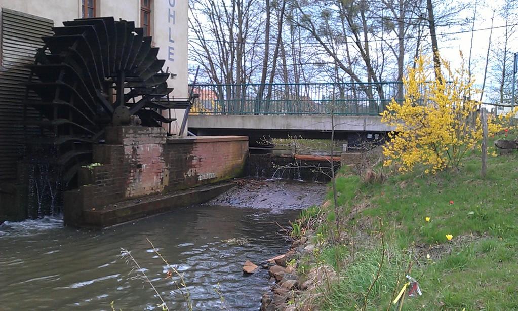 hier, keine 15 km weiter, treibt die Dahme schon eine Mühle an