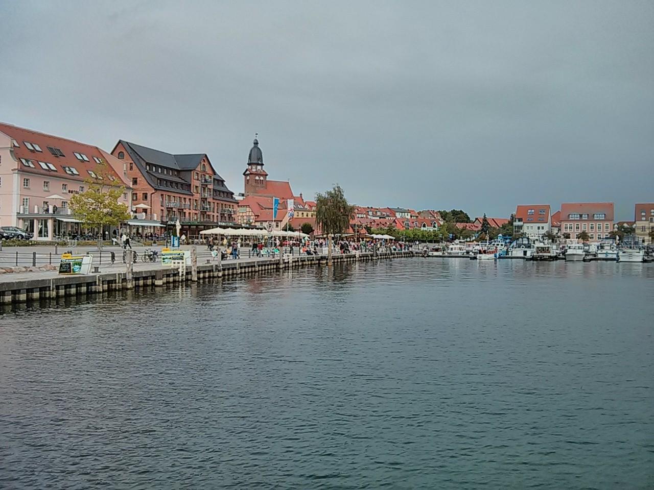 letzer Blick auf den Hafen von Waren(Müritz)