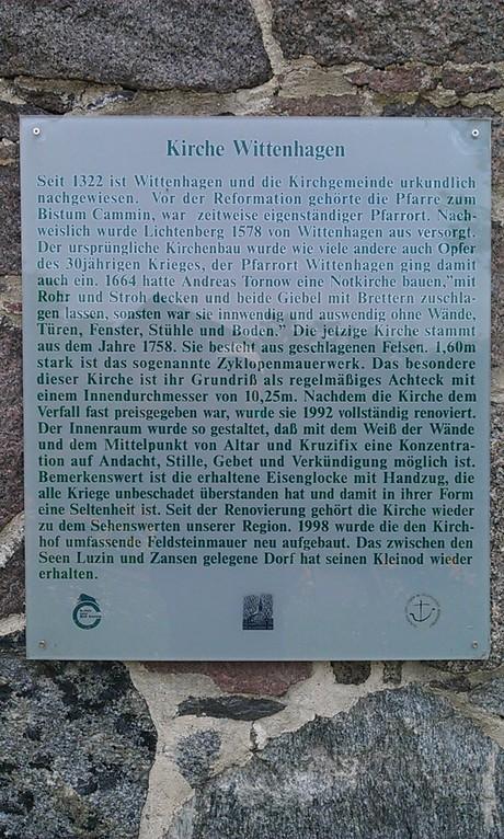 Interessantes zur Kirche Wittenhagen