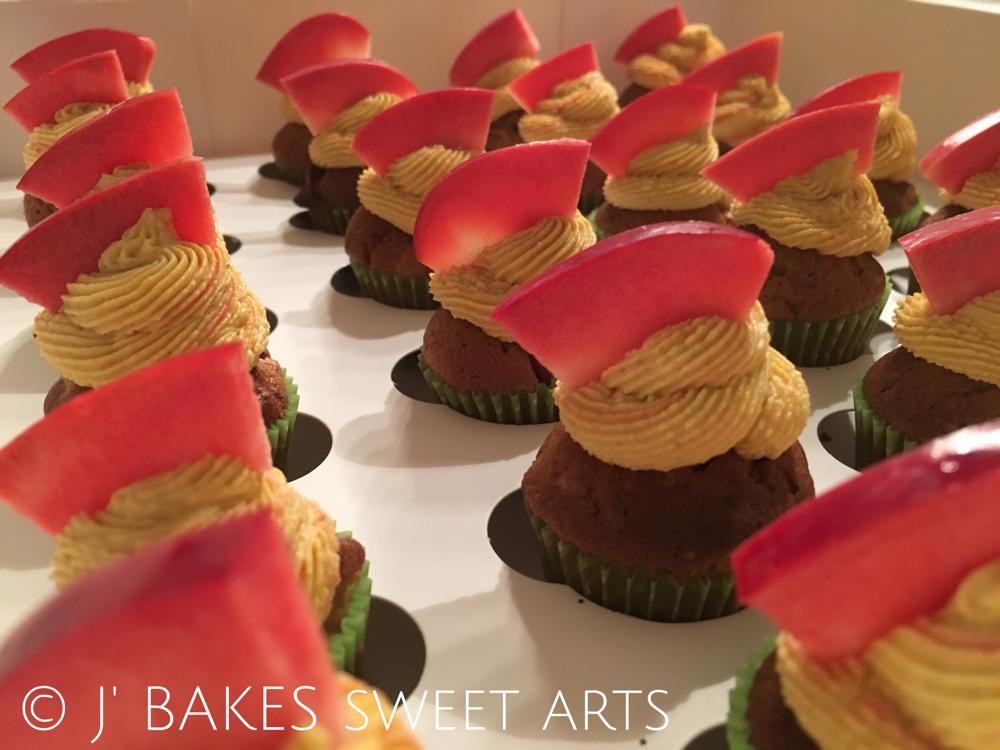 Roti Öpfel-Mini-Cupcake // Red apple-mini-cupcake