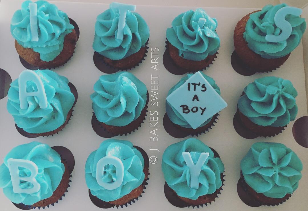 It's a boy Cupcakes - Raspberry