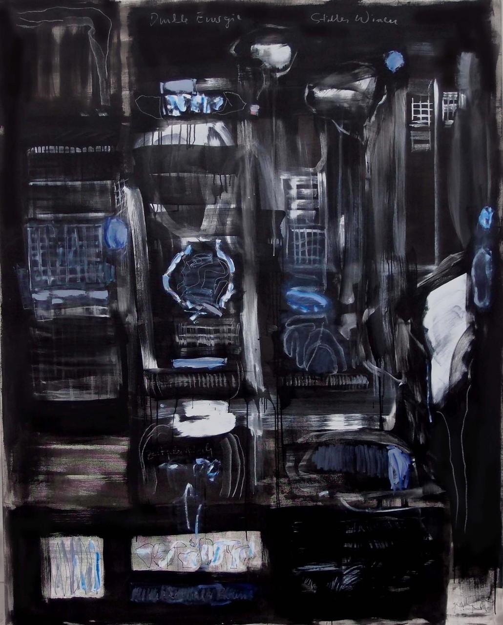 Dark Energy and Silent Knowledge  2014  Öl auf Nessel  200x160cm