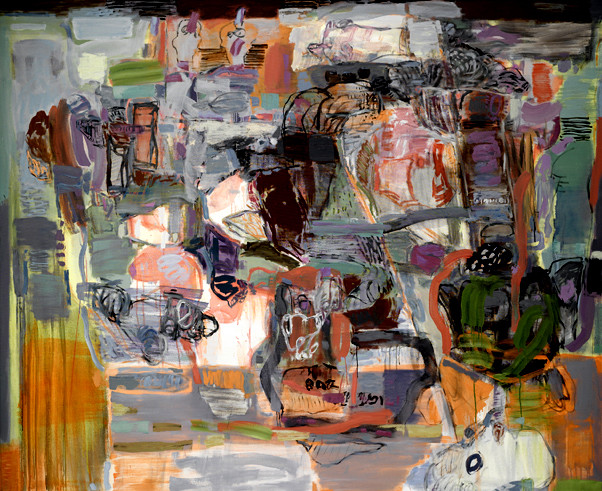 lost spaces 2009 öl auf nessel 180x220cm