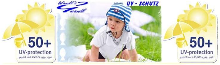 UV Schutz Kappen mit Nackenschutz von Sterntaler