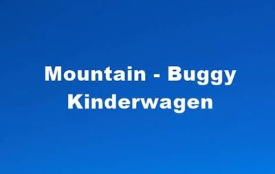 mountain buggy kinderwagen