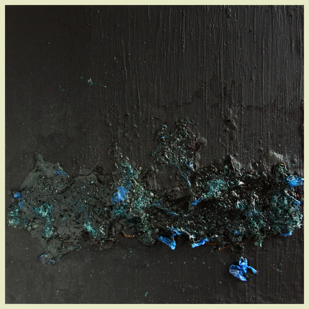 aus der serie verbrannt - 2011 - kunststofffolie auf mdf - 60 x 60 cm