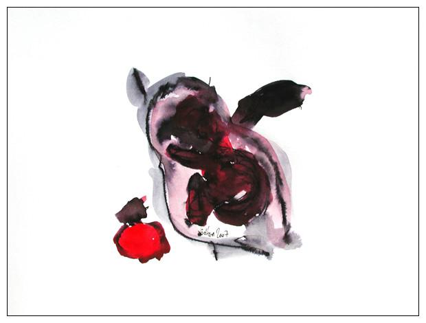 ohne titel - 2007 - tusche und acryl auf papier - 21 x 30 cm