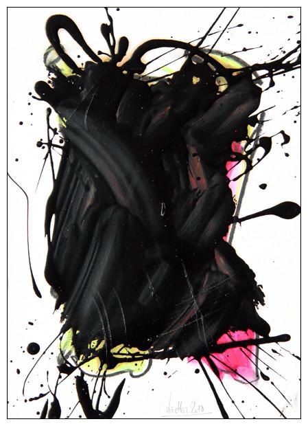 ohne titel - 2010 - ölkreide und kautschuk auf papier - 35 x 25 cm