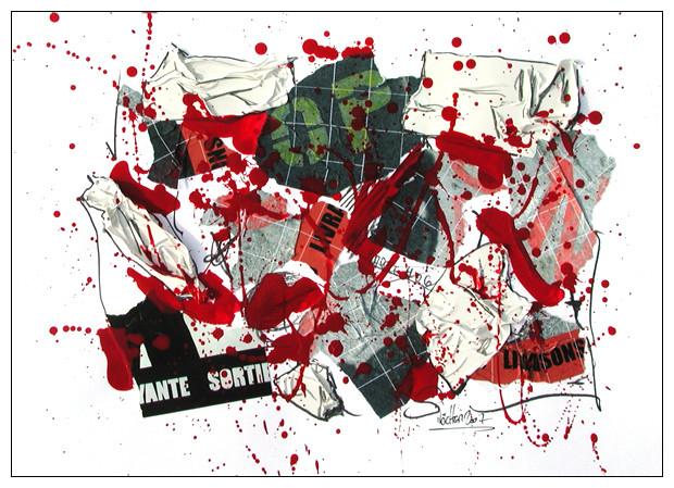 ohne titel - 2007 - tape, farbe, papier - 25 x 35 cm