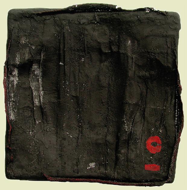 o.t. - 2008 - acryl auf gipsmullbinden - 30 x 30 x 5 cm