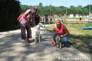 Au club canin de Saint-Avold avec Mamina et Fiona.