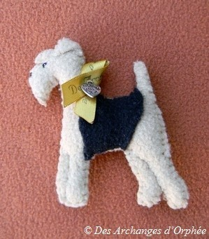 Petite broche Welsh terrier.