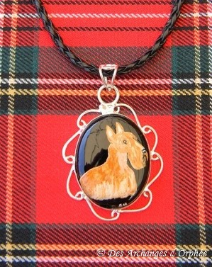 "Pendentif Onix, Scottish terrier ""Emmy""."