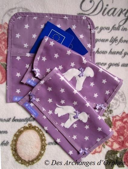 Pochettes Bedlington passeport européen et papiers