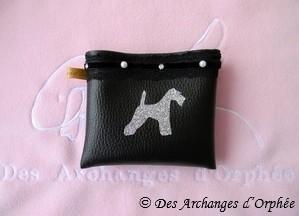 Pochette ceinture fox terrier pour Myriam.