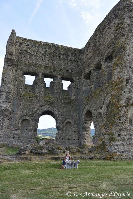 Devant le Temple de Janus à Autun.