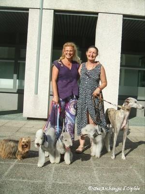 Un belle rencontre Madeleine, Nash et Kiki.
