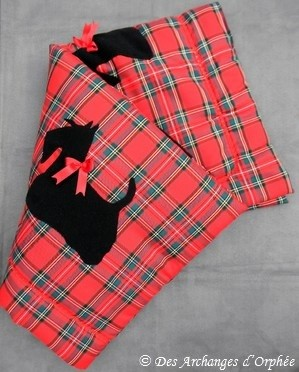 Couettes carreaux écossais, décor Scottish.