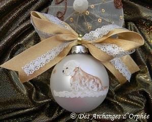 Boule de Noël Dandie moutarde.
