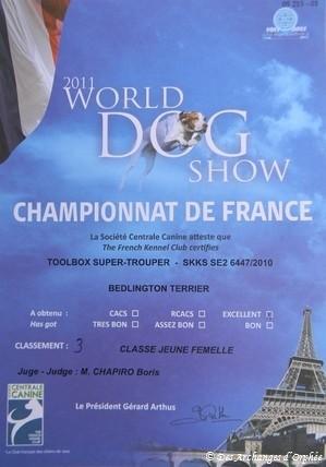 Olga - Feuille du jugement du championnat de France 2011.