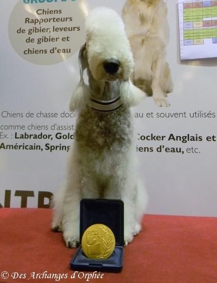Olga et sa médaille du CGA 2014