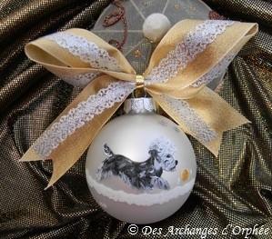 Boule de Noël Dandie poivre