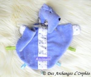 Doudou bébé bleu