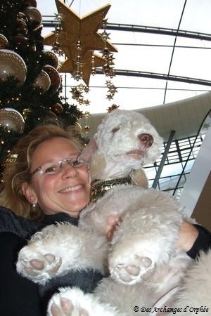 Ma petite Tsarine pour son premier Noël.