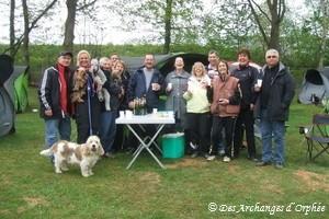Joyeux groupe d'agilitistes à Creutzwald