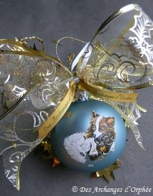 Papillon.Boule de Noël Papillon.