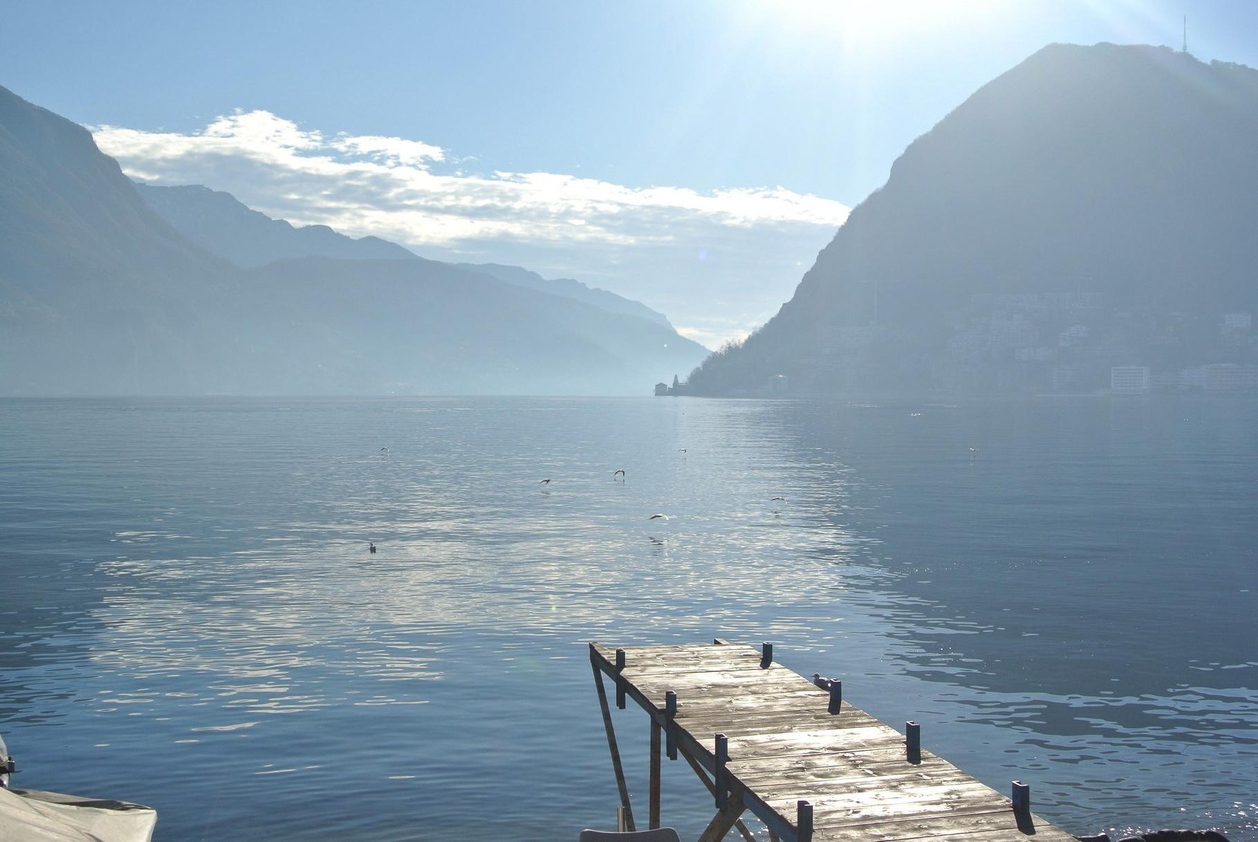lugano, vue sur le lac
