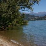spiaggia sul Lago di Lugano