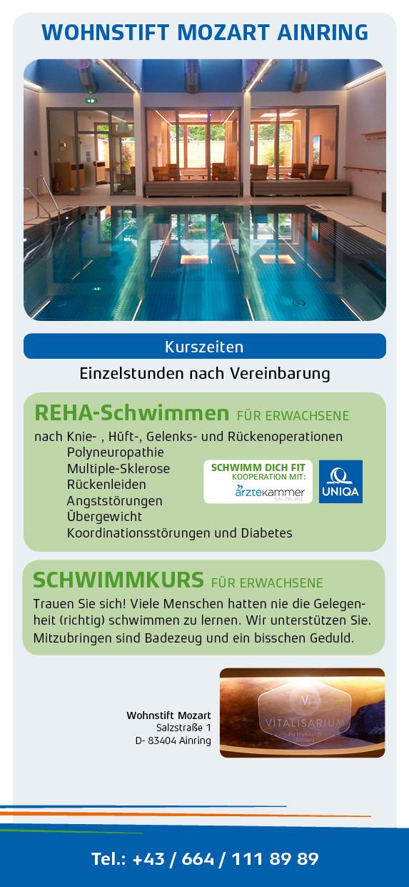 Schwimmschule Salzburg: Reha-Schwimmen und Schwimmkurse im Wohnstift Mozart