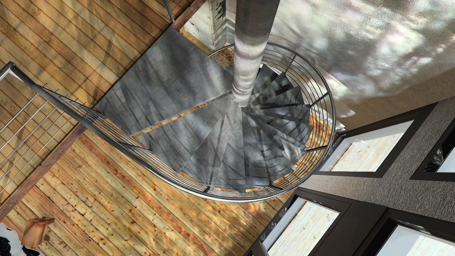 Wendeltreppe Konstruktion und Visualisierung
