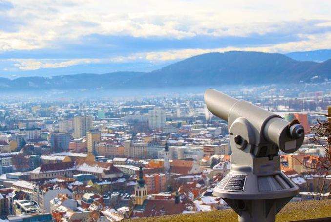 Aussicht Schloßberg Graz