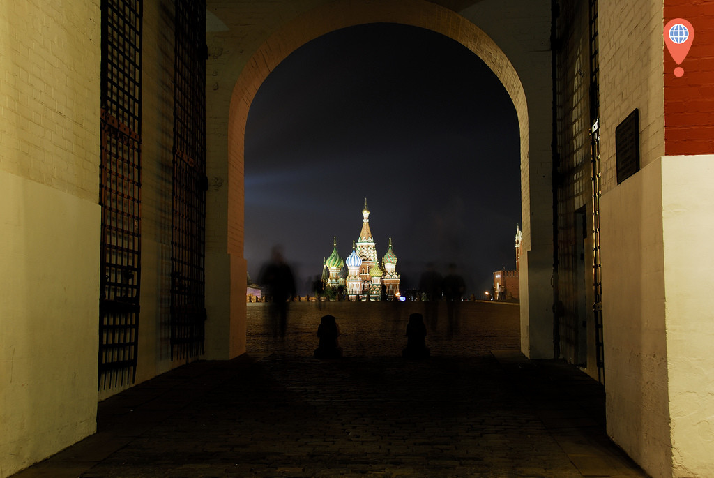 red square entrance