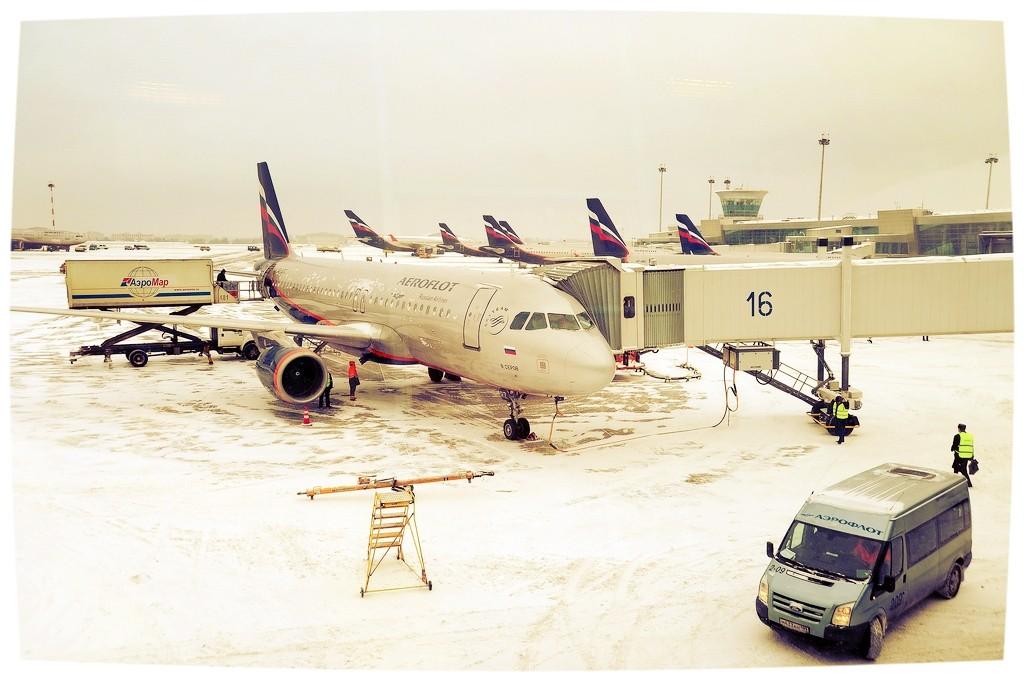 aeroflot a320 boarding