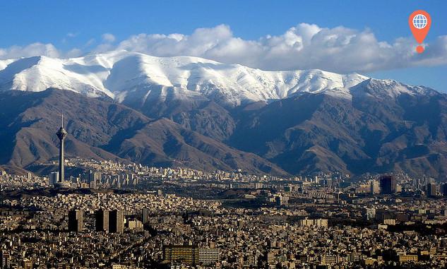 tehran damavand mountains