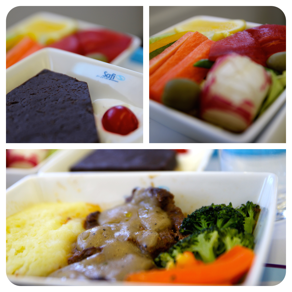 safi airways business class food