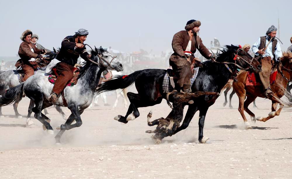 buzkashi game in afghanistan
