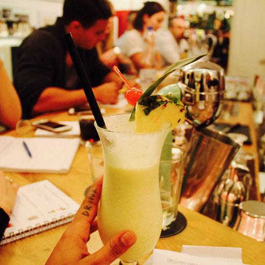 Fire Cocktail im Barkurs