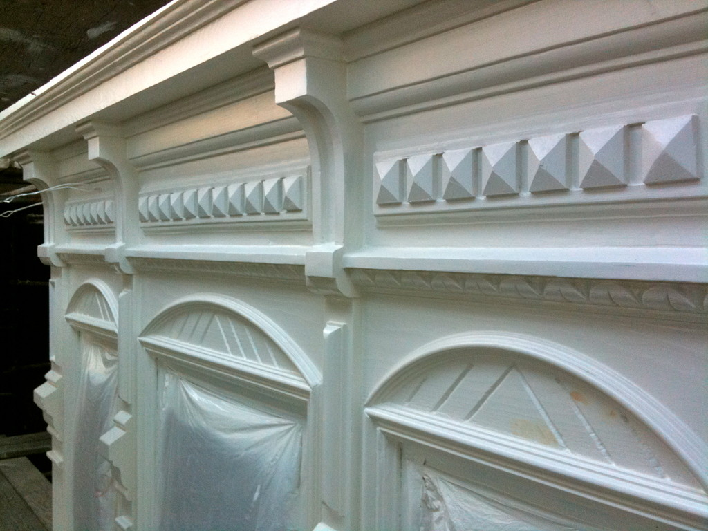 Victorian trim ready for paint